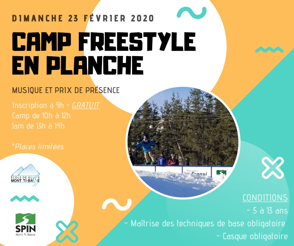Camp freestyle en planche